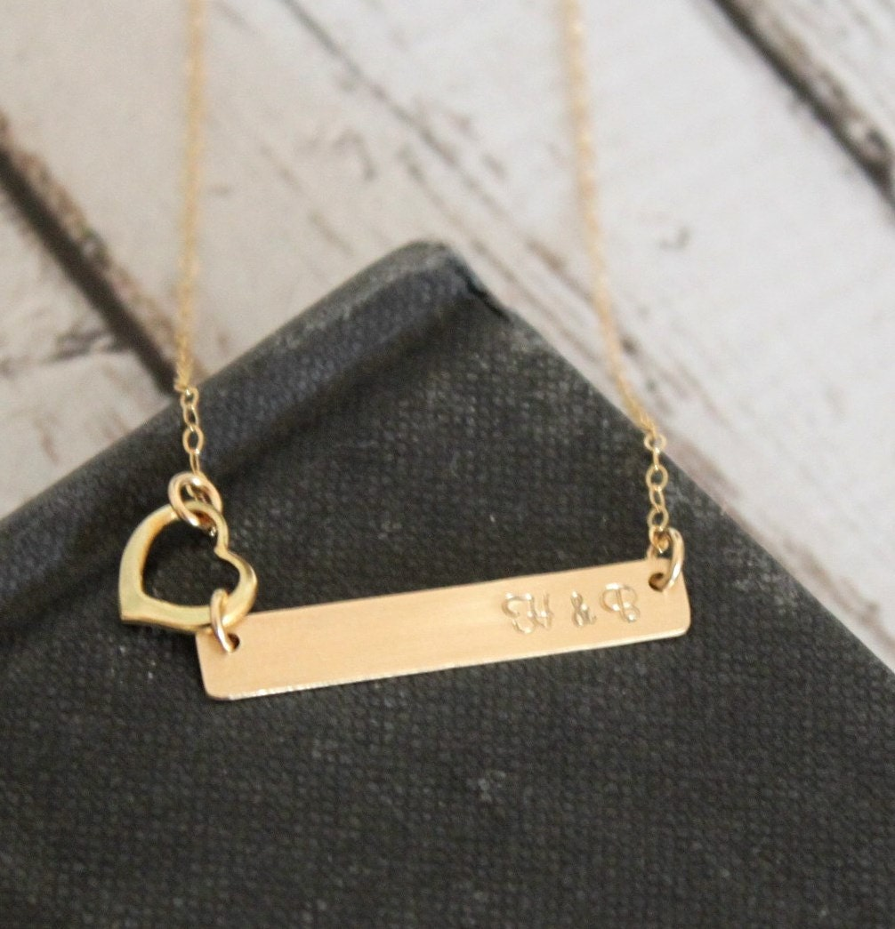 personalized gold bar necklace gold bar necklace. Black Bedroom Furniture Sets. Home Design Ideas