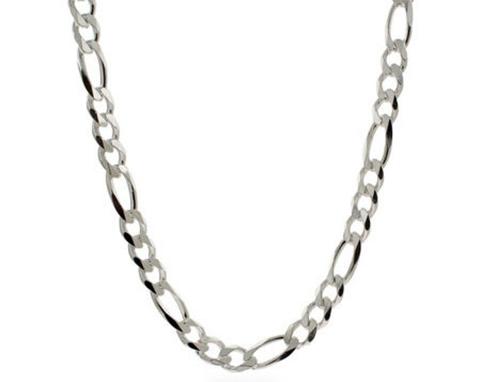 Sterling Silver Figaro Chain UPGRADE - 3mm wide with lobster clasp ONLY if purchased WITH a name necklace from PersonalizedJewelry