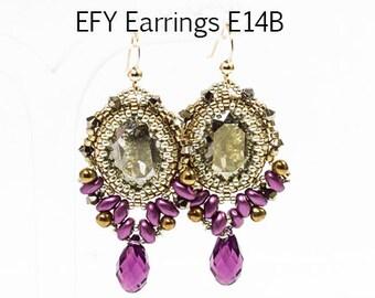 EFY Swarovski  Earrings DIY Beading Kit (Instruction and Materials)