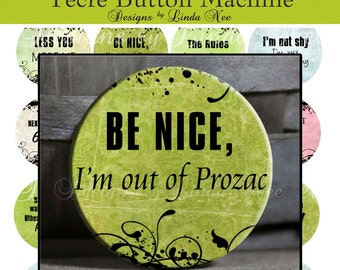 Pinback BUTTON Images 1.25 inch round 1.629 overall size - Say it Like it is 2 Digital Collage Sheet AMERICAN BUTTON Machine Tecre