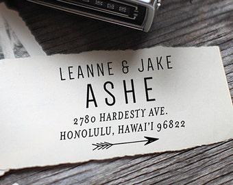Custom Address Stamp, Return Address Stamp, Wedding address stamp, Calligraphy Address Stamp, Self inking address stamp - 1012