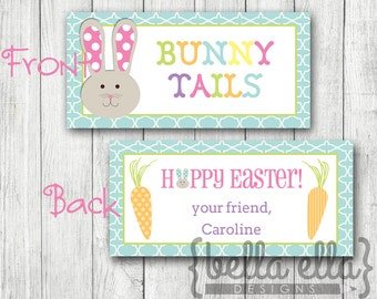 Personalized Bunny Tails Easter Printable Bag Topper