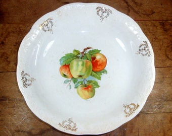 Vintage Serving Bowl, China, Fruit, Apples  (8620)