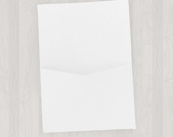 10 Flat Pocket Enclosures - White - DIY Invitations - Invitation Enclosures for Weddings & Other Events