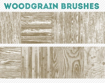 photoshop brushes - woodgrain brushes - for photography or scrapbooking - commercial use allowed - automatic download