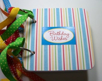 Birthday Mini Scrapbook Album, Birthday Photo Album, Birthday Scrapbook, Birthday Photo Album, Birthday Brag Book, Birthday Wishes