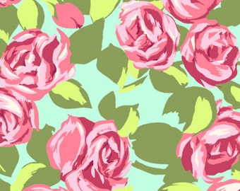 Amy Butler fabric | Love Tumble Roses fabric Pink | Cotton Quilting fabric