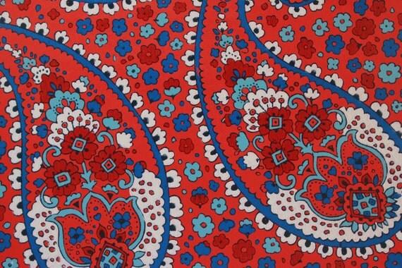 A os 70 vintage papel pintado grande rojo blanco y azul - Papel pintado anos 70 ...