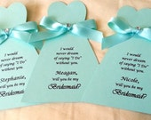 Will you be my Bridesmaid Card Maid of Honor Wedding party invite by arleendesign