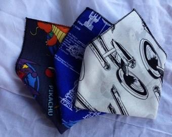 Geeky Pocket Squares- Handkercheif GroomsMen's Gift - Star Trek - Star Wars -Marvel - Disney -Custom to Order