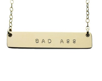 The Name Plate Necklace Bad Ass