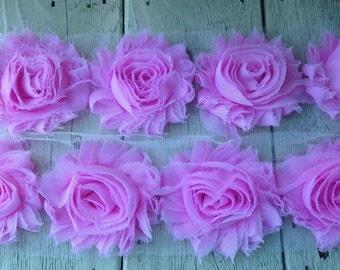 Shabby  PINK Rose Trim on Net-2 1/2 inch- 1/2 yard