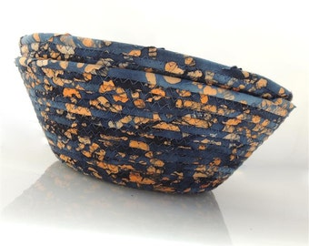 Large Navy and Orange Bowl