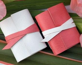 Blush Pink Mini Journal: Little Leather Notebook, feminine Sweet 16 or Birthday gift for Mom or Daughter, Wedding Favors. Ships worldwide.
