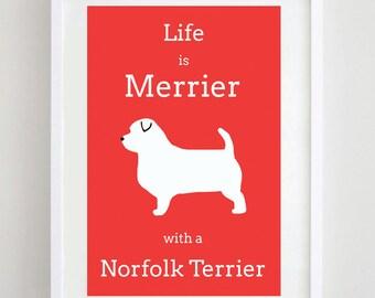 Norfolk Terrier Print - Dog Picture - Dog Art - Dog Print - Dog Poster - Terrier Print