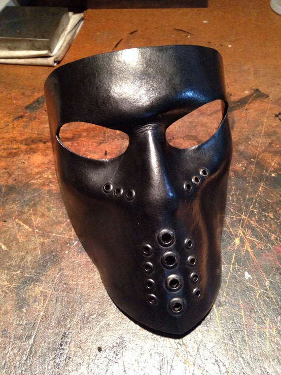 How To Sell A Motorcycle >> Black Leather mask. Biker mask face shield by skinznhydez