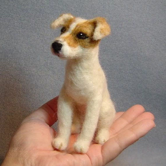 Custom dog art  needle felted sculpture Pet Portrait Memorials