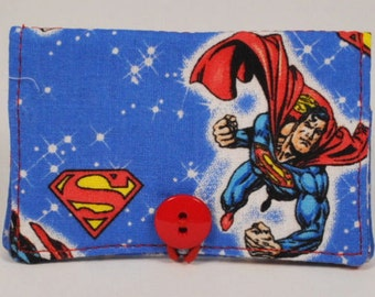 Fabric Business Card Holder Superman