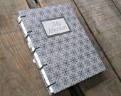 Medium Blank Journal, Blank Coptic Stitch Gray Journal, Handmade Sketchbook, Personal Diary