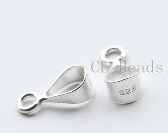 2 Pieces of  S925 Sterling Silver Bail - Pendant Holder - 12x5mm