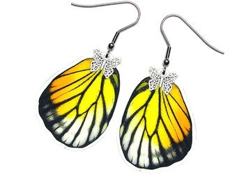 Real Butterfly Wing Earrings (Philonome HW - E041)