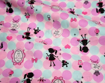 1 meter Lecien lovely punch print japanese fabric  (n331)