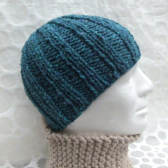 KNITTING PATTERN/ RUSTICO/ Chunky Ribbed Knit Beanie Pattern