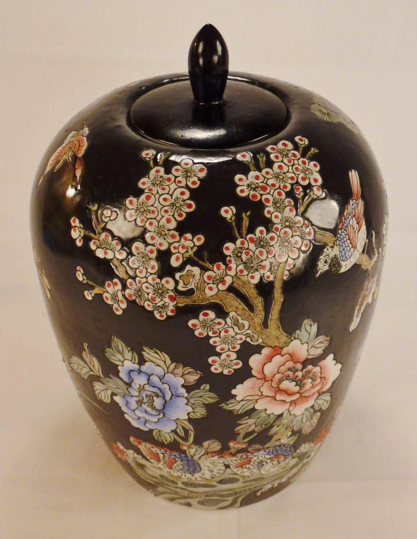 Asian Ginger Jar Vintage Vase Porcelain Japan China Birds