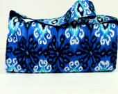 Mega Coupon Organizer Ikat in Blues Fabric