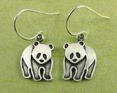 Tiny panda earrings