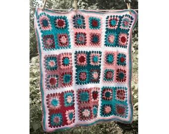 Flower Baby Blanket Crochet Pattern, Instant Download PDF, Baby Shower Gift, Granny Square Blanket Pattern