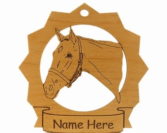 Thoroughbred Head  1 Horse Wood Ornament 088317 Personalized With Your Horse's Name