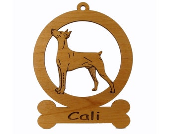 German Pinscher Ornament 083207 Personalized With Your Dog's Name