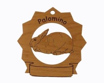 Palomino Rabbit  Personalized Wood Ornament