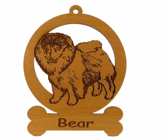 Chow Standing Ornament 082138 Personalized With Your Dog's Name
