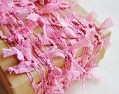 Bubble Gum Pink Lace Flag Ribbon bunting Garland -lace trimming, wedding decoration, party supply, scrapbook embellishment -5 yards