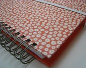 Greeting Card Organizer with Address Book and Birthday Reminder with Orange and White Cover