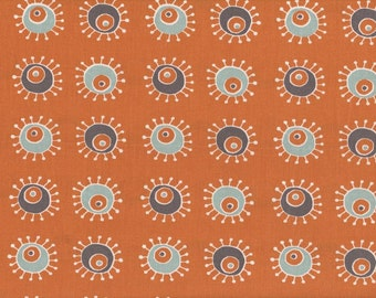 Birch Fabric • Sunburst Orange  Organic Cotton Farbric 0.54yd (0.5m) 001656