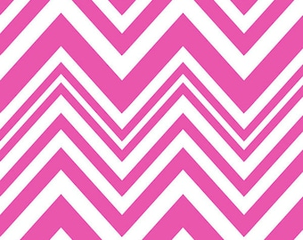 Camelot • Neon & On • Pink Chevron • Cotton Fabric 0.54yd (0.5m) 001968