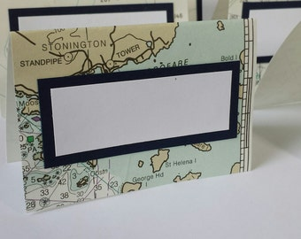 Nautical Chart Place Cards