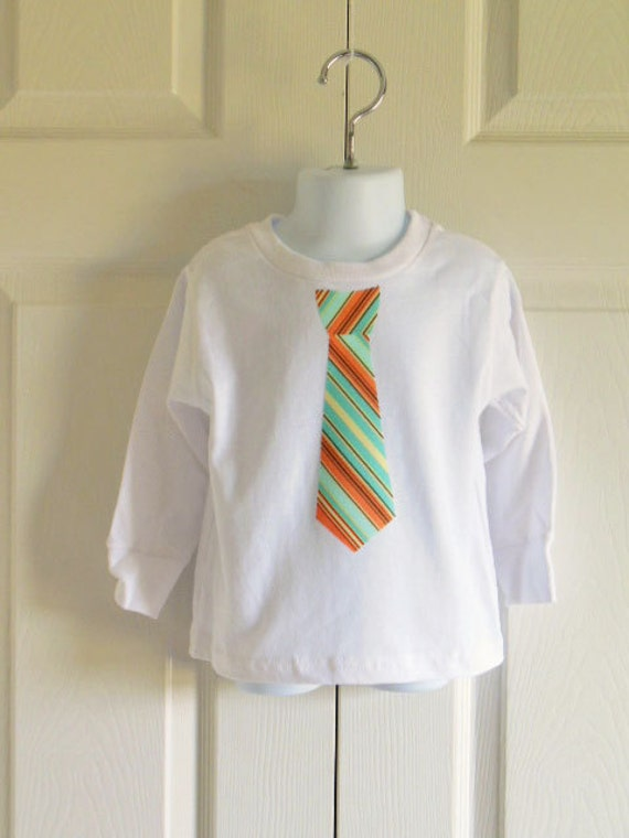 Boys Tie Bodysuit Or T Shirt Oxford Stripe By
