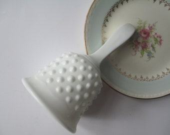 Vintage Fenton Milk Glass Hobnail Bell - Cottage Chic
