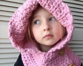 RESERVED- Super soft Crocheted Child's Hooded Cowl