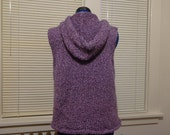 Purple knit hooded vest