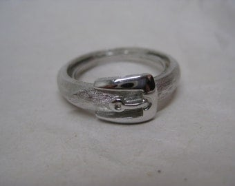 Belt Silver Ring Vintage Avon Adjustable