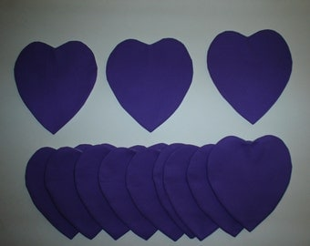 Quit Appliques 7 inch Purple Hearts Press and Sew set of 12    Lot 78