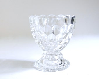Vintage 1970's Avon Ovalique Clear Glass Small Dessert / Berry Bowl