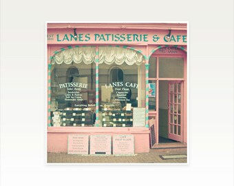 CLEARANCE SALE! Architecture Photography, Cafe Art, Patisserie, Retro Wall Art, England - Sweet Cafe