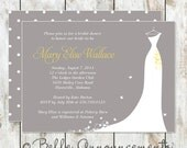 Modern Grey and Yellow Bridal Shower Invitation - On Sale Through January 31st