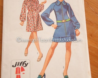 Simplicity Vintage Pattern - Bust 38 Sz 16 Dress or Two Piece Dress Complete 1970s